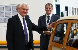 Picture of Graham Stuart at Popes Lane manufacturing site in Oldbury