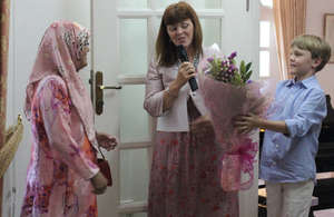 Presenting flowers to the Guest of Honour, Datin Adina