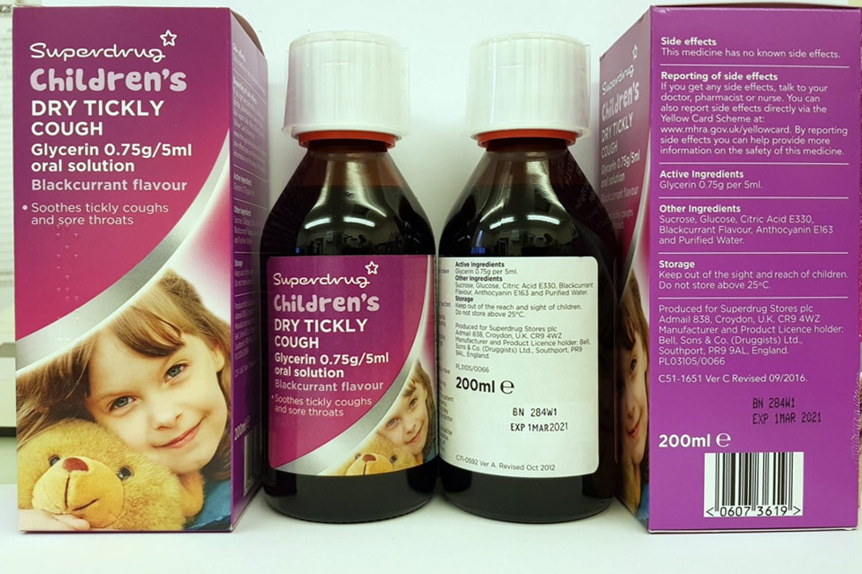 Superdrug cough syrup