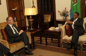 Ivan Rogers meeting President Jakaya Mrisho Kikwete