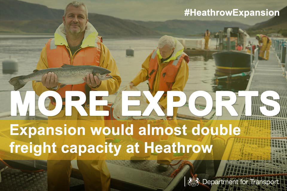 More exports: expansion would almost double freight capacity at Heathrow.
