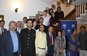 The Acting British High Commissioner, Richard Crowder with the BHC Chevening team and Chevening alumni.