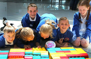 Children playing with LEGO®.