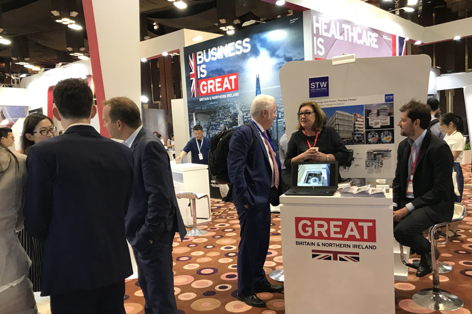 Picture of UK companies exhibiting at the congress