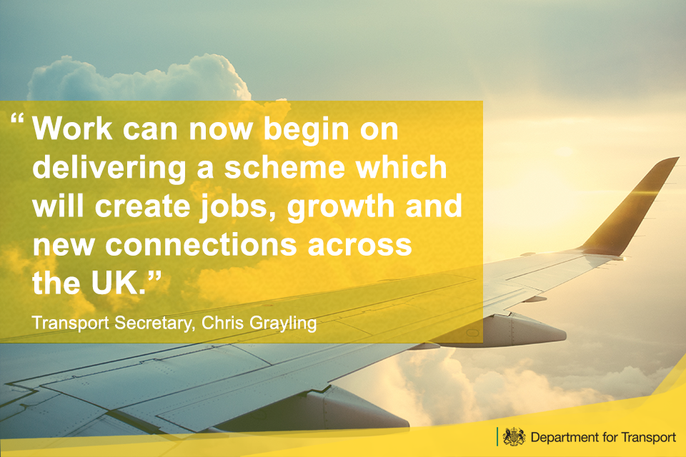 Work can now begin in delivering a scheme which will create jobs, growth and new connections across the UK.