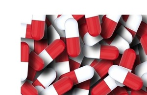 Antibiotic pills.