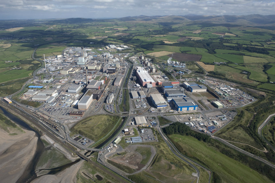 Aerial photo of Sellafield