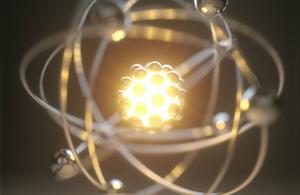 Illustration of an atom (credit: Kiyoshi Takahase Segundo / Alamy Stock Photos)