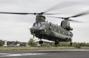 RAF Chinook.