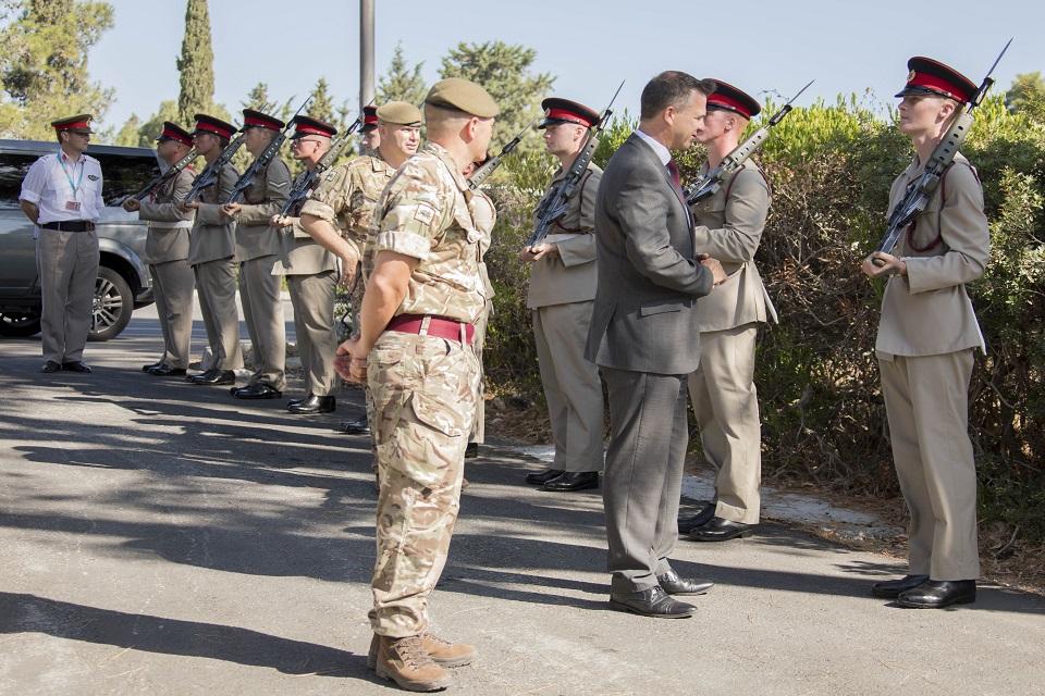 Mark Lancaster meets troops based in Cyprus.
