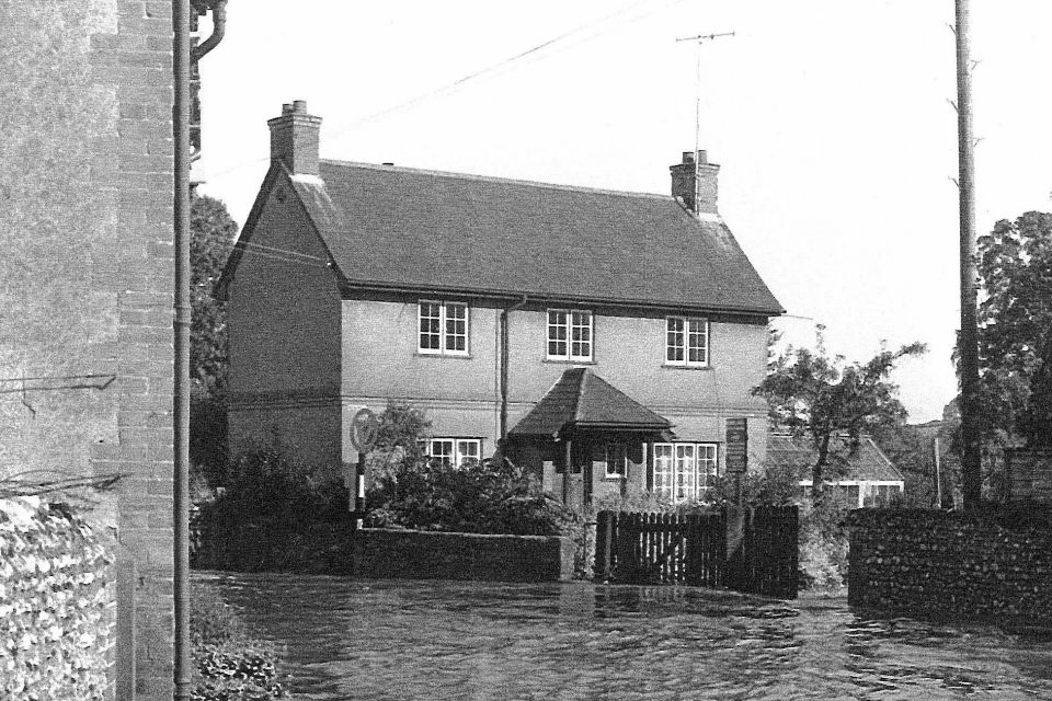 Flooding in East Budleigh, East devon, July 1968