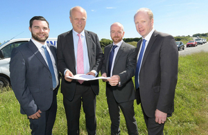 Image showing Secretary of State for Transport Chris Grayling, and Highways England project team