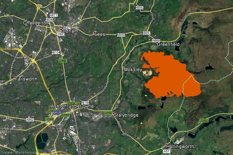 Satellites Map Fire On Saddleworth Moor Gov Uk