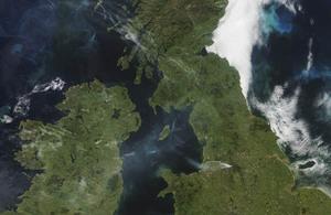 Arial shot of Saddleworth fire, courtesy of University of Dundee