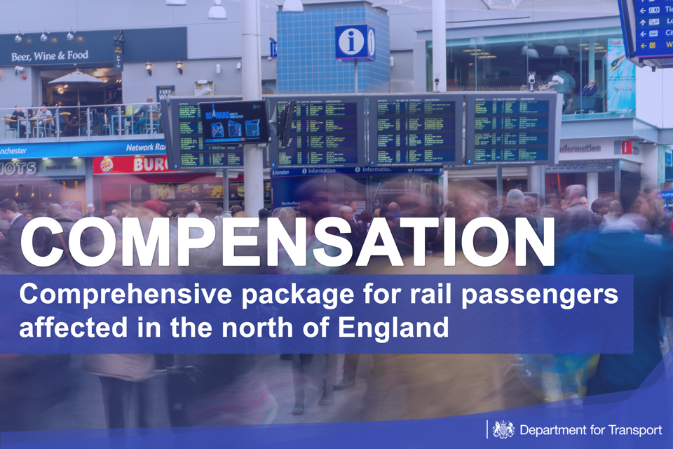 Image of promotional information about the rail compensation.