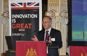HMA Sir Peter Ricketts introduces the Franco-British offshore wind event in Paris, 6 December 2012