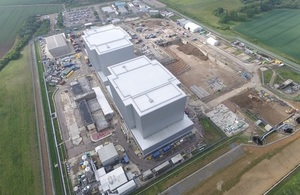 Aerial view of one of the 12 Magnox Ltd nuclear sites: Bradwell Essex