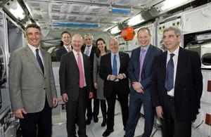 David Willetts, Minister of State for Universities and Science, paid his first visit to ESTEC, the technical heart of the European Space Agency (ESA) in Noordwijk, on Friday 8 February.