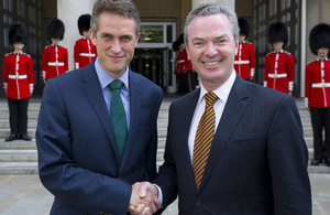 Defence Secretary Gavin Williamson met with Australian Defence Industry Minister Christopher Pyne today