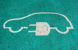 Image of a charging space for an electric car