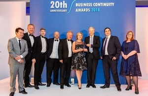 The Civil Nuclear Constabulary (CNC), in partnership with CMAC Business Continuity Transport, were the proud winners of the Strategy in Partnership award at the CIR Magazine Business Continuity Awards