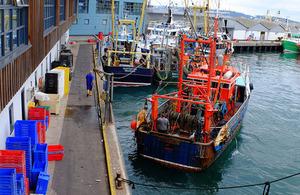 Brixham trawlers.