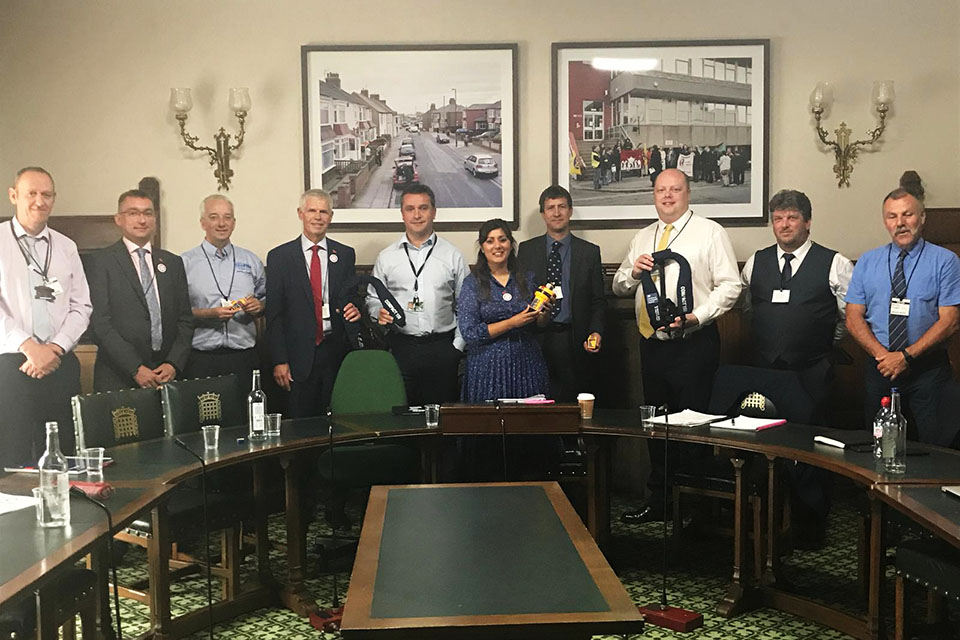 Transport Minister Nusrat Ghani meets representatives from the fishing industry.