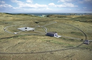 Artist's impression of the vertical launch site at the Moine.