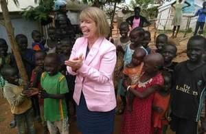 Harriet Baldwin in South Sudan