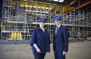 Defence Secretary and Australian Minister tour Scottish site building world-class warships as £1 billion is pumped into supply chain. Crown copyright.