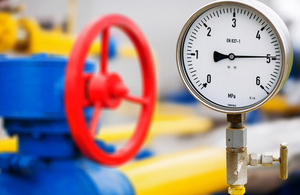 Pipes with temperature gauge and valve