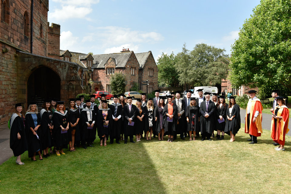 They were honoured at a ceremony hosted by the University of Cumbria