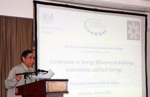 Manila conference on energy efficiency - GOV UK