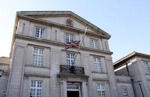 Embassy flags are being flown at half-mast