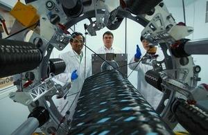 Professor Prasad Potluri, Andy Whitham and Dr Yan Liu