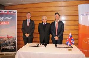 Ambassador Jamie Bowden, Mr. Ramón Suárez and Consul General, John Derrick.