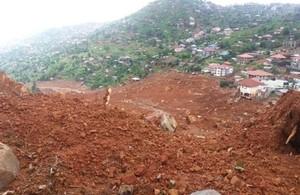 Destruction of landslide