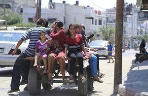 Children in Gaza.