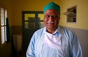 A doctor in a medical facility in Hyderabad India via fivepointsix at Shutterstock