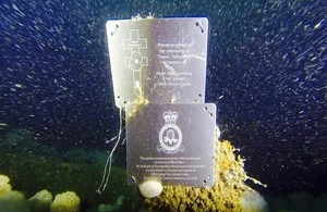 During the dive two memorial plaques were fixed to the wreck on behalf of Royal Centre for Defence Medicine and the Thame Remembers Project
