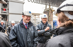 Secretary of State Greg Clark visited Sellafield with NDA Chief Executive David Peattie