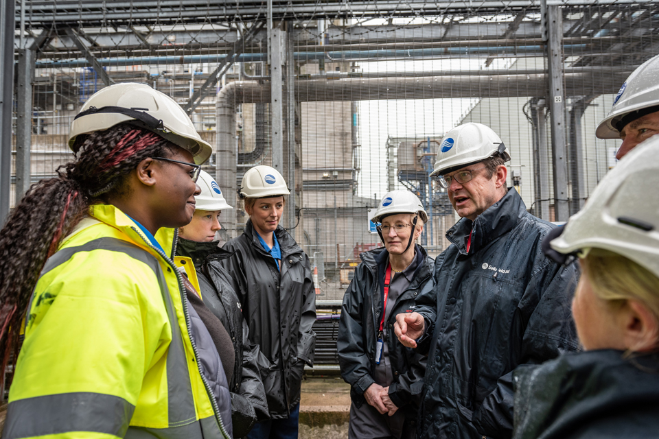 Secretary of State met with staff from the First Generation Magnox Storage Pond during Sellafield visit