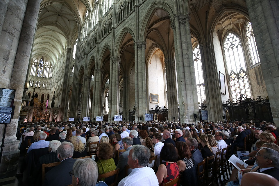 The commemorative event at Amiens Cathedral was attended by Prince William, Duke of Cambridge, the Prime Minister, Theresa May, Minister for the Armed Forces Mark Lancaster and Chief of the Defence Staff, General Sir Nick Carter. MOD Crown Copyright.