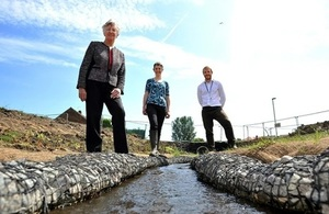 Images shows Coun. Maxell, Tom PItman and Liz Walters at the Bede Burn
