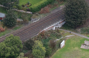 Bridge on which near miss occurred (courtesy of Network Rail)