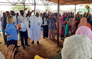 UK Minister for Africa, Harriett Baldwin, in Sudan.
