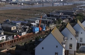Giken piling train in Shoreham-by-Sea