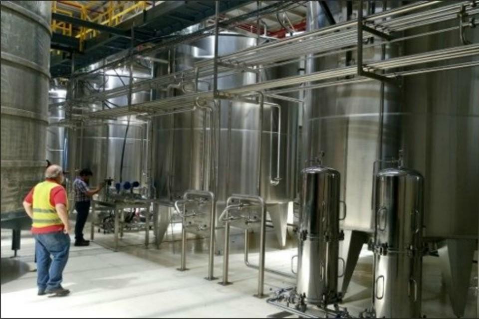 Diageo's newly established bottling plant in Mendoza, Argentina.