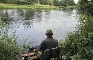 Image shows one of the anglers taking part in the survey