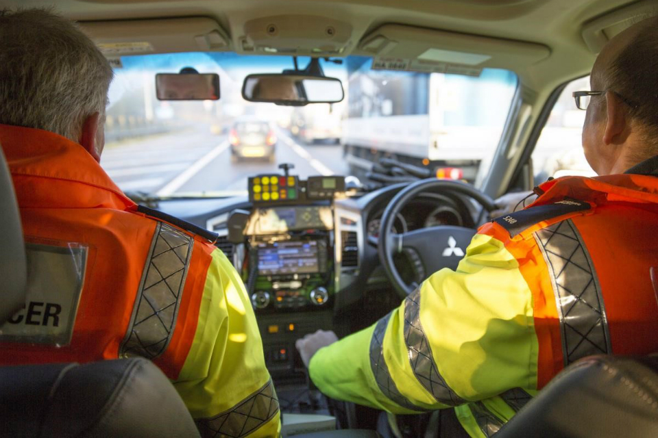 Traffic officers on the road